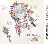 fashion illustration with dream ... | Shutterstock .eps vector #545434414