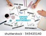 corporate social responsibility ... | Shutterstock . vector #545435140