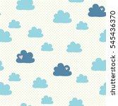 seamless pattern with clouds | Shutterstock .eps vector #545436370