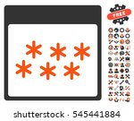 snowflakes calendar page... | Shutterstock .eps vector #545441884