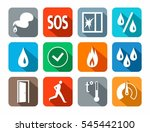 alarm  icons  colored  fire...   Shutterstock .eps vector #545442100