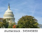 Stock photo capitol building with trees in autumn washington dc 545445850