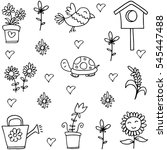 spring hand draw of doodles | Shutterstock .eps vector #545447488