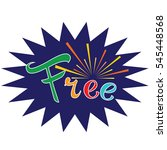 free. vector sign. colorful...