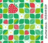 seamless geometric pattern with ... | Shutterstock .eps vector #545449309