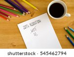 new year's resolution on the... | Shutterstock . vector #545462794