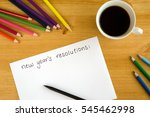new year's resolution on the... | Shutterstock . vector #545462998