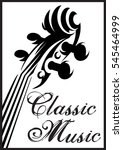 monochrome pattern with violin... | Shutterstock . vector #545464999