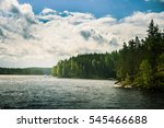 A Beautiful Lake Landscape In...
