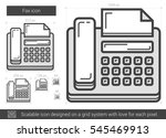 fax vector line icon isolated... | Shutterstock .eps vector #545469913