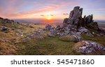Sunset On Sourton Tor Dartmoor...