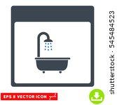 shower bath calendar page icon. ... | Shutterstock .eps vector #545484523