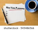 new year planning with blank... | Shutterstock . vector #545486566