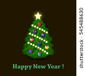 happy new year. decorated... | Shutterstock .eps vector #545488630