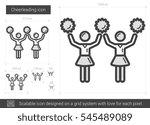 cheerleading vector line icon... | Shutterstock .eps vector #545489089