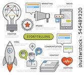 flat line storytelling concept  ... | Shutterstock .eps vector #545489320