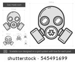 gas mask vector line icon... | Shutterstock .eps vector #545491699