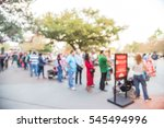 blurred long people queuing in... | Shutterstock . vector #545494996