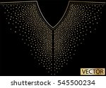 embellishment hot fix stud... | Shutterstock .eps vector #545500234