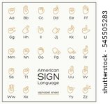 American Sign Language ASL Alphabet