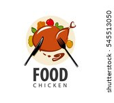 logo  chicken knife fork plate | Shutterstock .eps vector #545513050
