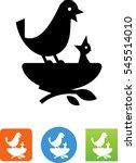 mother bird and baby bird in... | Shutterstock .eps vector #545514010