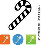 vector candy cane icon | Shutterstock .eps vector #545514373