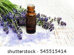 lavender  sea salt and oil on a ... | Shutterstock . vector #545515414