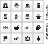set of 16 editable meal icons.... | Shutterstock . vector #545520253