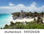 mexico   tulum ruins by the sea ... | Shutterstock . vector #545520328