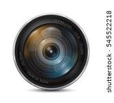 camera photo lens on a white...   Shutterstock .eps vector #545522218