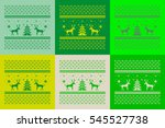 christmas set of 6 cards.... | Shutterstock . vector #545527738