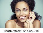 portrait of a beautiful young... | Shutterstock . vector #545528248