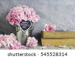 mother's day concept of pink... | Shutterstock . vector #545528314
