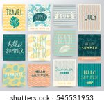 travel illustration set | Shutterstock .eps vector #545531953
