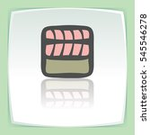 vector outline sushi rice roll...   Shutterstock .eps vector #545546278