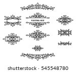 original frames and scroll... | Shutterstock .eps vector #545548780
