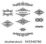 original frames and scroll... | Shutterstock .eps vector #545548780