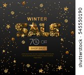 winter sale banners with 3d... | Shutterstock .eps vector #545550190