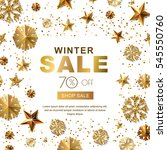 winter sale banners with 3d... | Shutterstock .eps vector #545550760