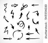 hand drawn arrows  vector set | Shutterstock .eps vector #545554030