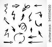 hand drawn arrows  vector set | Shutterstock .eps vector #545554030