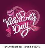 valentines day vintage...   Shutterstock .eps vector #545554648