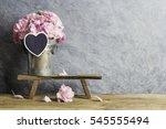 pink carnation flowers in zinc...   Shutterstock . vector #545555494