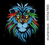 abstract color lion | Shutterstock .eps vector #545567800