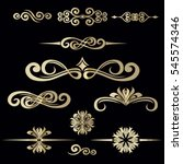 collection of hand drawn... | Shutterstock .eps vector #545574346