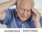 old retired senior man with a... | Shutterstock . vector #545574403