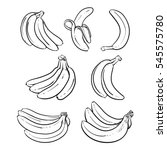 yellow bananas vector... | Shutterstock .eps vector #545575780