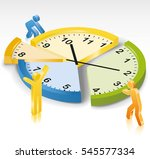 time management clock slices | Shutterstock .eps vector #545577334