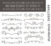 collection of cute hand drawn... | Shutterstock .eps vector #545577499